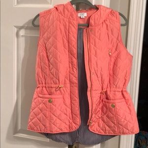 Crown & Ivy Hooded Quilted Vest